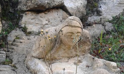 rochers sculptés, art, éphémere