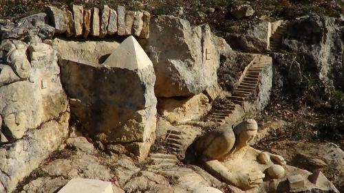 rochers sculptés, sculpture, land art